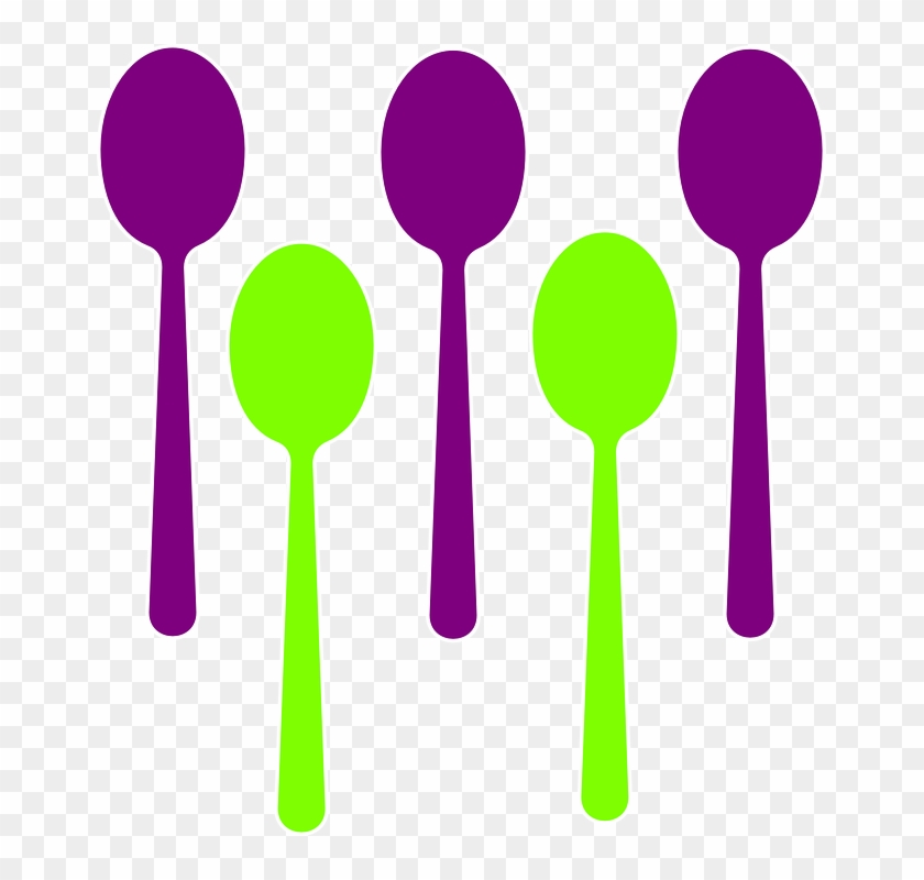 Spoons Cutlery Eating Sign Symbol Restaurant Food - Set Of Spoon Clipart #105088
