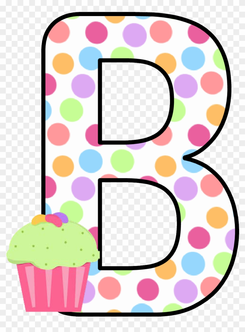Ch B *✿* Alfabeto Cupcake De Kid Sparkz - Cupcakes Letters Clip Art #105121