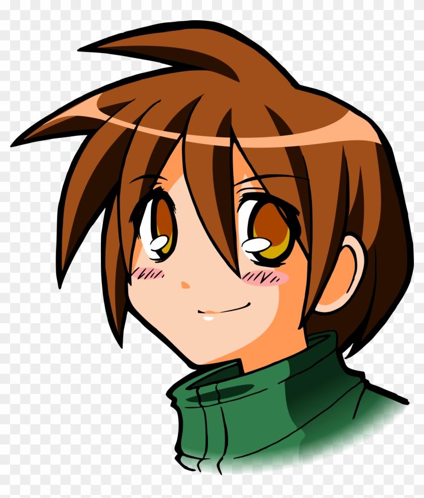 Download Png Image - Brown Hair Boy Cartoon #105136