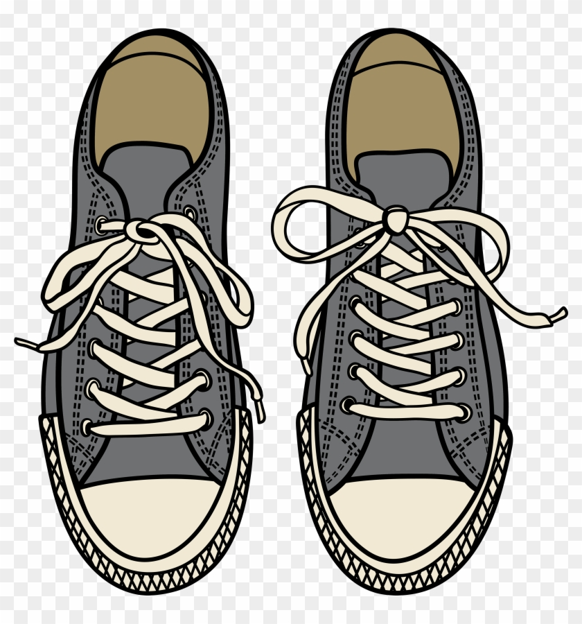 Fancy Shoes Clipart Grey Sneakers Png Best Web Black - Animated Shoes Top View Png #105229