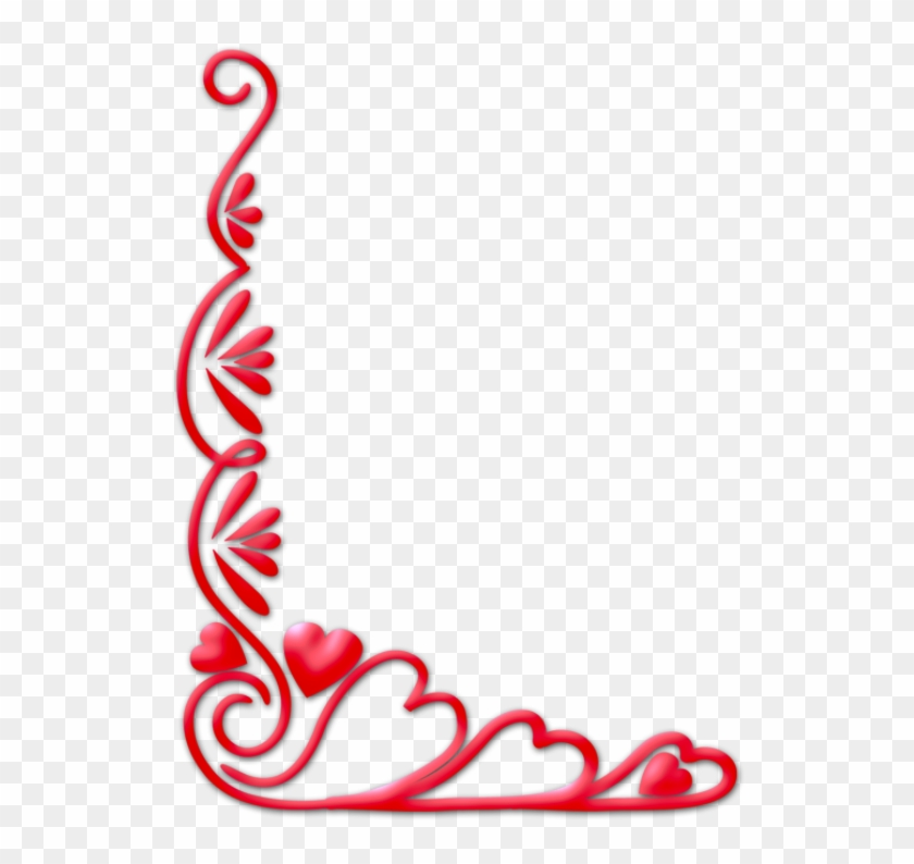 Clip Arts Related To - Valentine Corner Border #105244