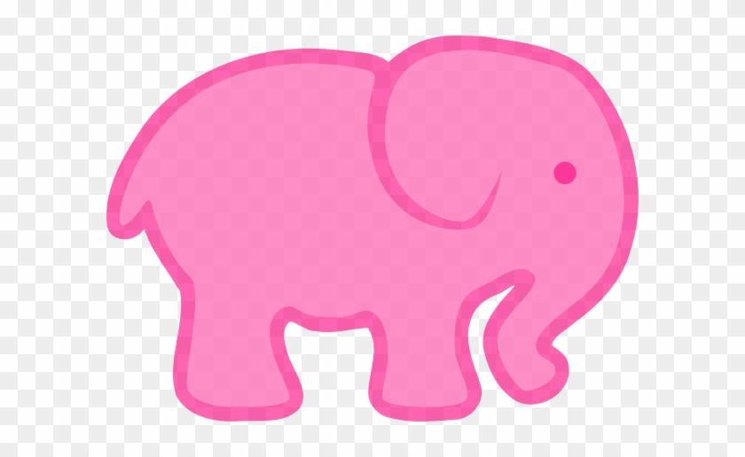 Pink Pink Elephant Clip Art At Clker - Pink Elephant Clip Art #105285
