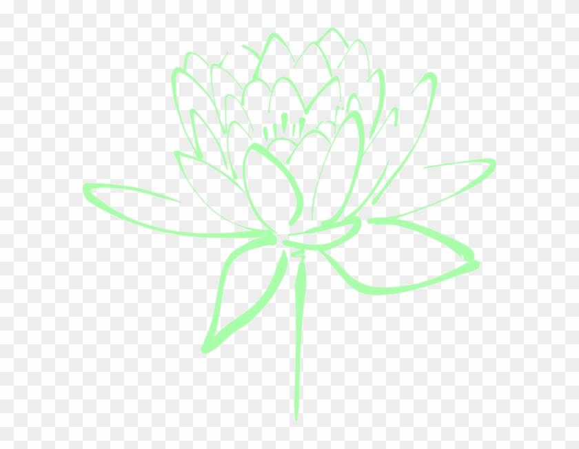 Floral Clipart Mint Green - Mint Green Flower Clip Art #105343