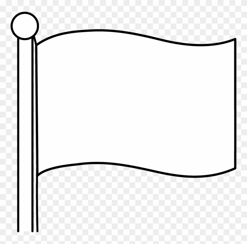 Simple Blank Flag Design Free Clip Art - Flag Outline #105351