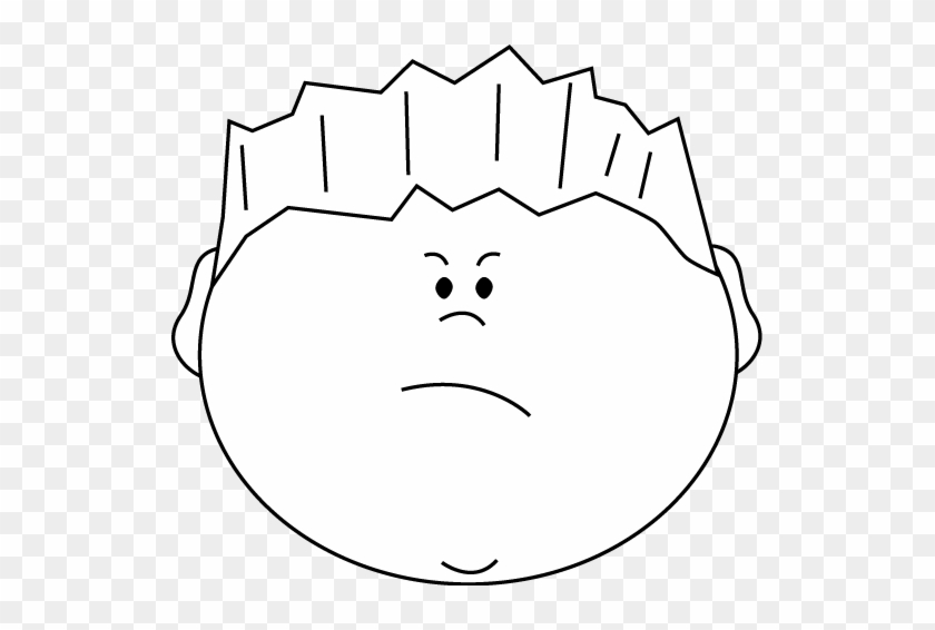 Mad Face Angry Face Clip Art Clipart - Boy Happy Face Clipart Black And White #105404