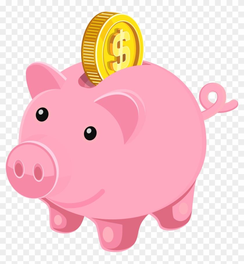 Piggy Bank Png Clip Art Image - Piggy Bank Png Clip Art Image #105443