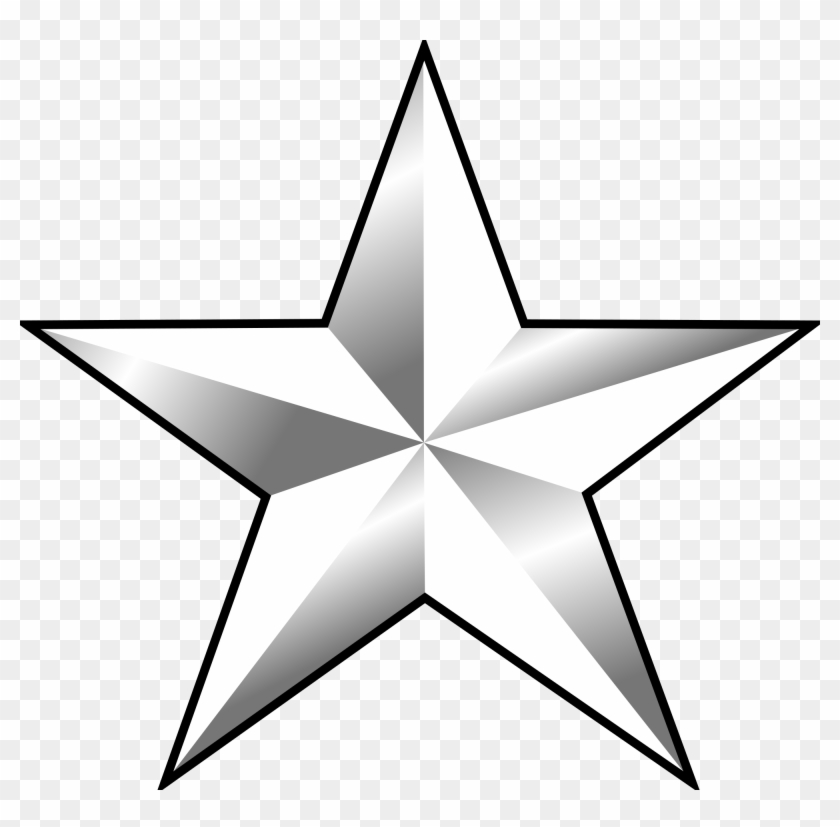1 Star General Rank Clipart - One Star General #105551
