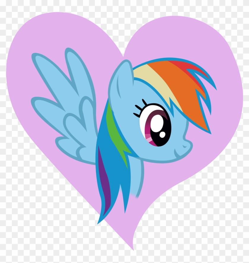 Rainbow Dash Heart Design By Dipi11 On Clipart Library - Pony Friendship Is Magic Rainbow #105577