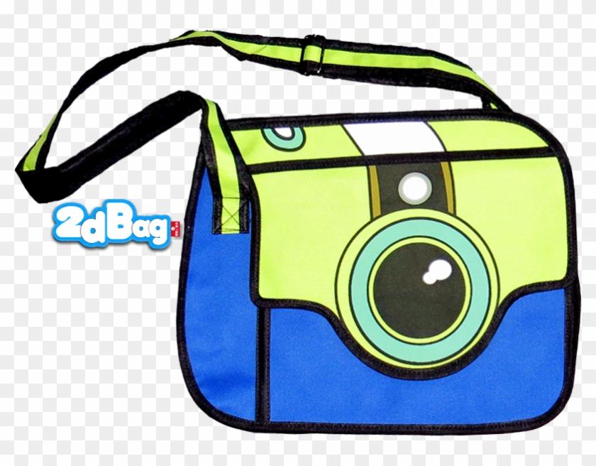 Camera Style 2d Cartoon Bag - Camera Bag Clipart #105592