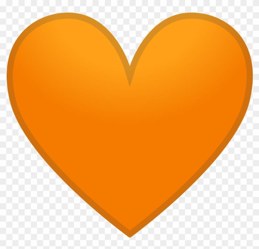 12147 Orange Heart Icon - Orange Heart Emoji Png #105626