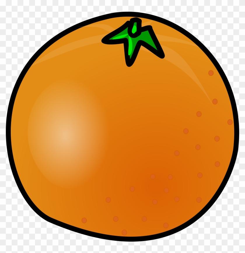 Orange Black, Food, Fruit, Outline, White, Cartoon, - Animated Picture Of An Orange #105653