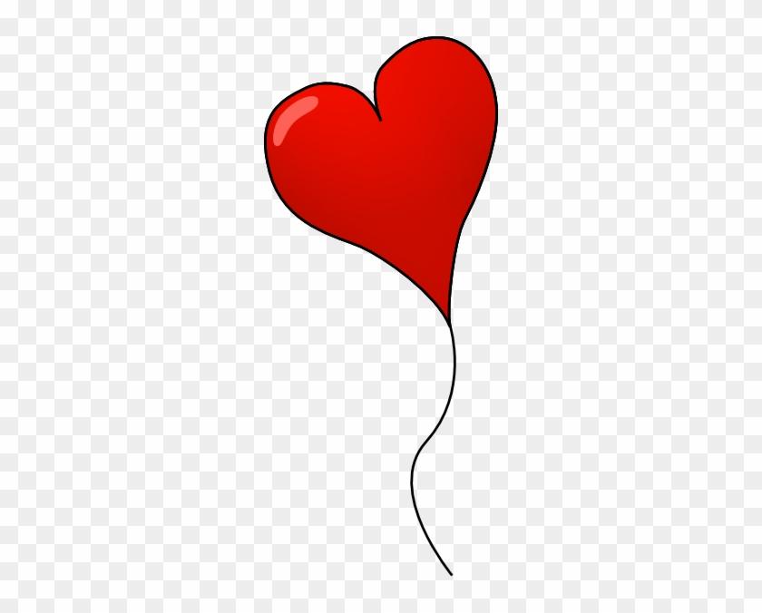 Heart Clipart Baloon - Heart Balloon Image Png Transparent #105659