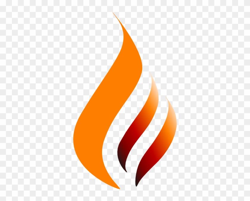 Orange Red Orange Logo Flame Clip Art At Clker - Sculpture #105663