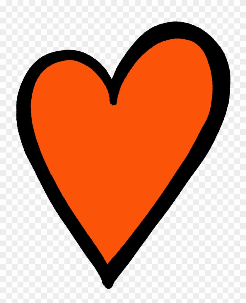 Orange Heart Png Download - Heart #105683