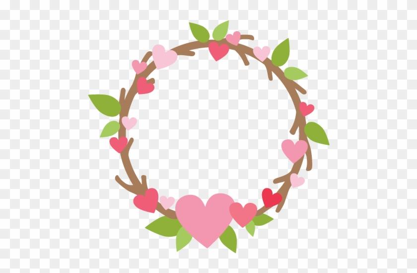 Valentine's Day Wreath Svg File For Scrapbooking - Cricut #105709