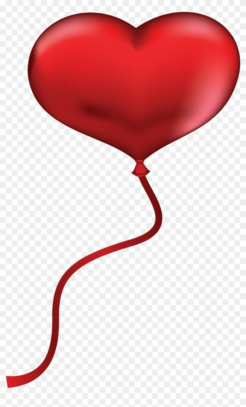 Heart Balloon Clip Art - Heart Balloon Transparent Background #105733