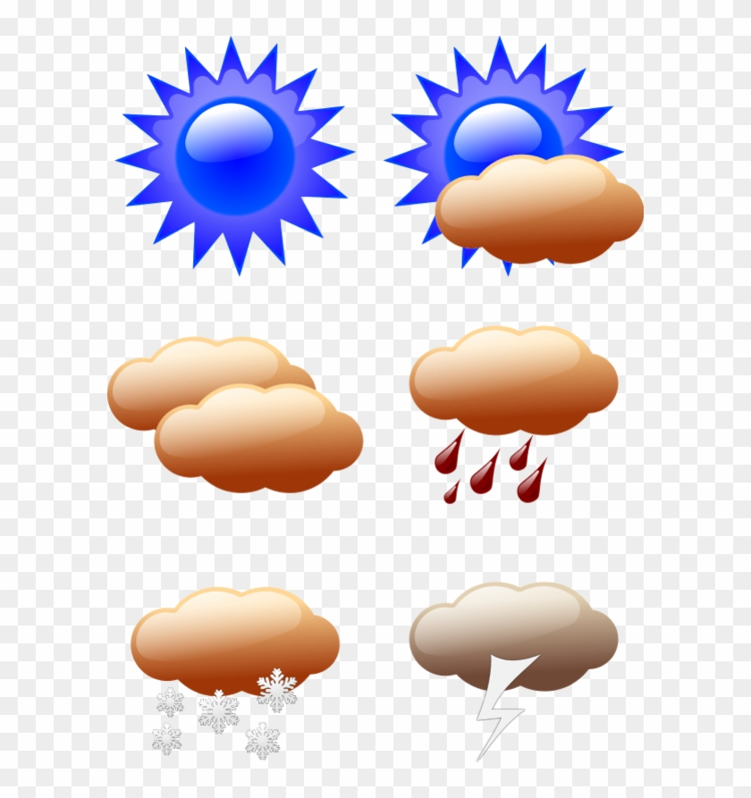 Vector Clip Art - All Different Types Of Weather #105867
