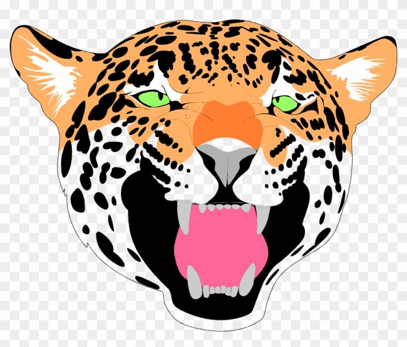Jaguar Clipart Face - Jaguar With Transparent Background #105871