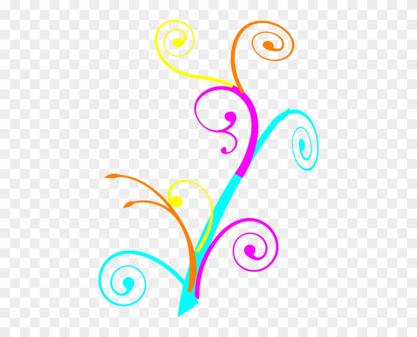 Colorful Swirls Clipart - Tree Branch Clip Art #105941
