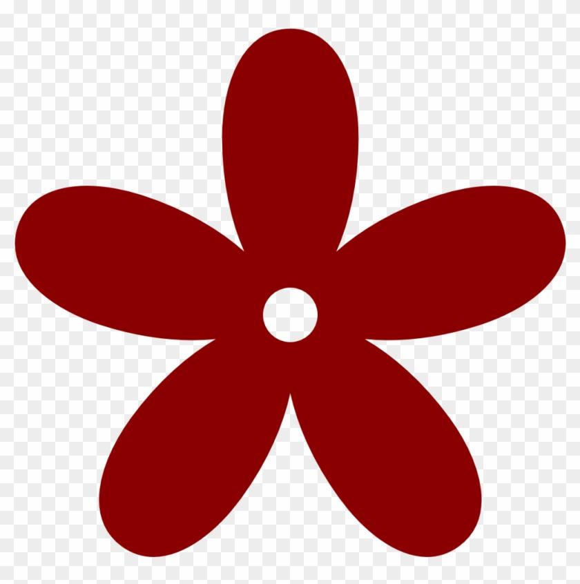 Imagem Relacionada - Dark Red Flower Clip Art #105951