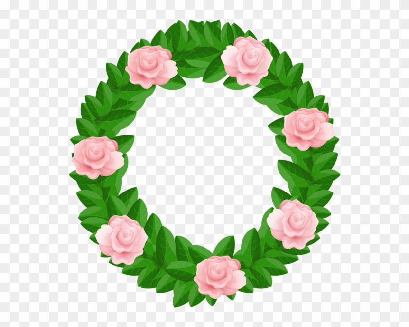 Wreath With Roses Free Png Clip Art Imageu200b Gallery - Clip Art #105973