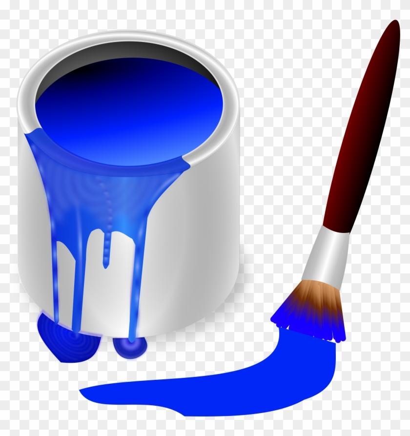 Blue Color Clipart - Clipart Paint Can Spilled #106047