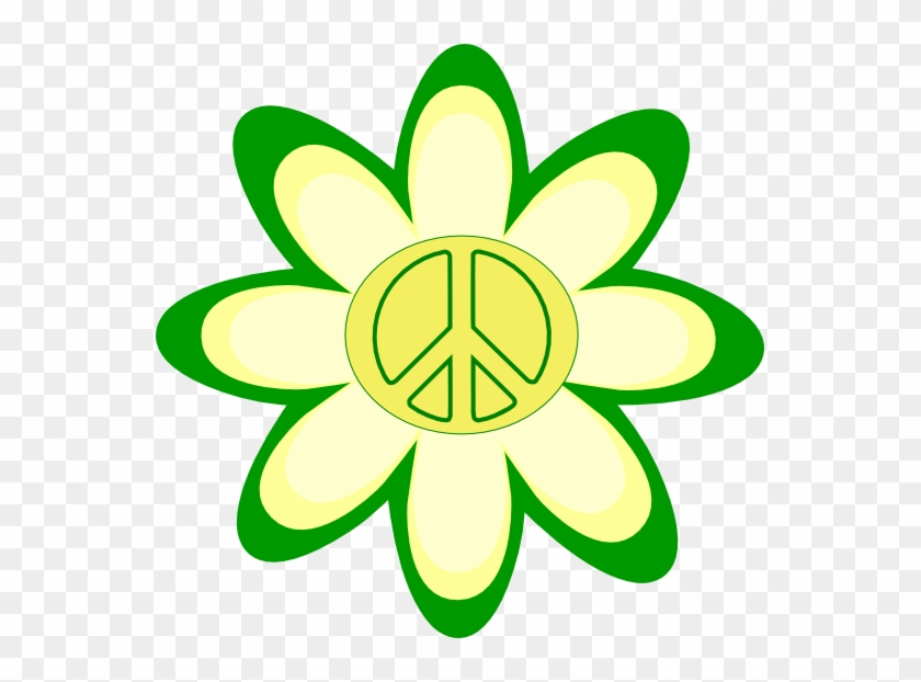 Peace Sign Pictures - Yellow Flower Clip Art #106051