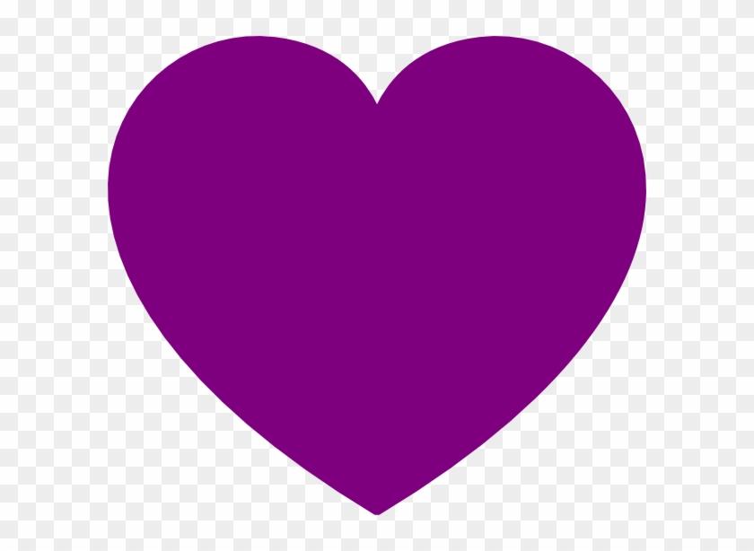 Purple Heart Clip Art - Dark Purple Heart Clip Art #106095
