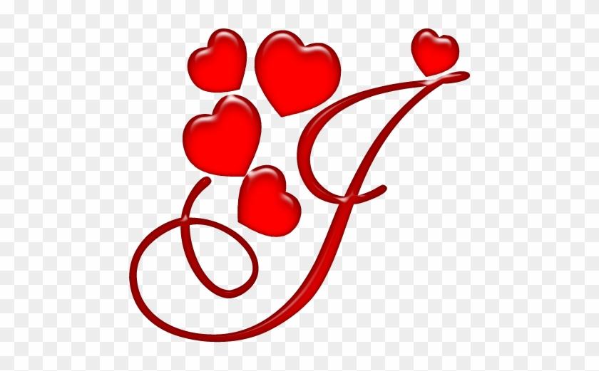 Alfabeto Coração Em Png - Letra J Com Coração #106104