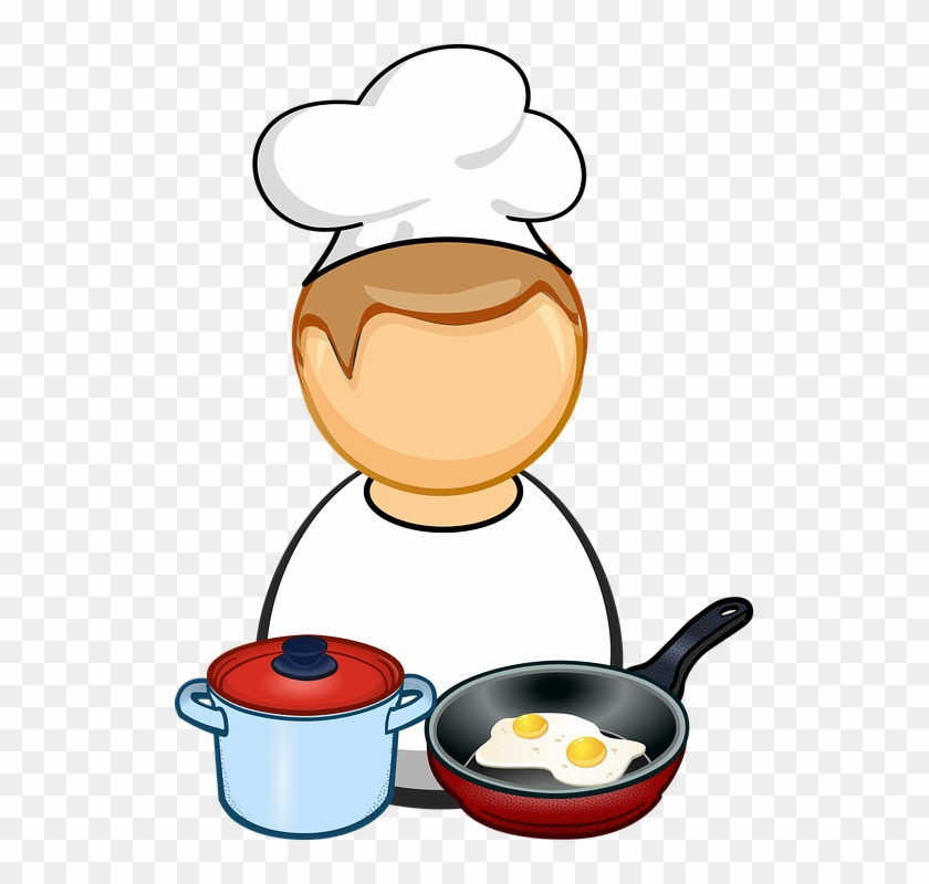 Comic Characters Cook Cooking Egg Food Fry - Pan Cooking Clipart #106130