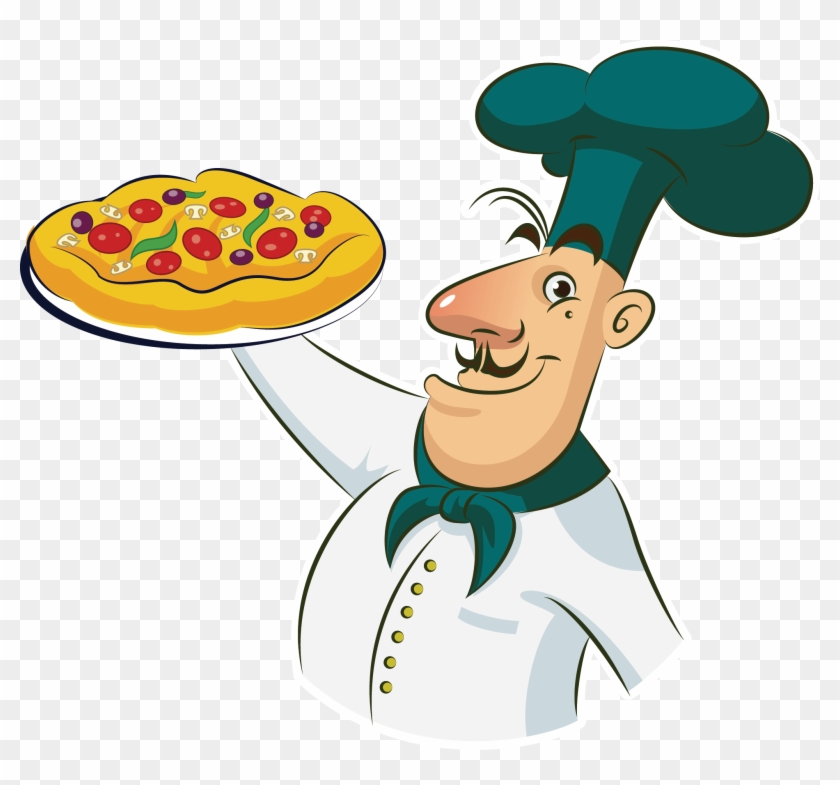 Pizza Chef Cooking Clip Art - Pizza Chef Cooking Clip Art #106170