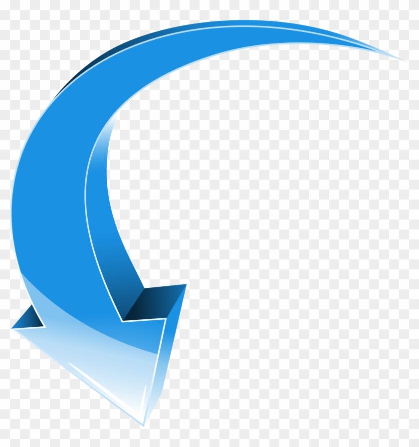 Arrow Blue Down Transparent Png Clip Art Image - Clip Art #106202