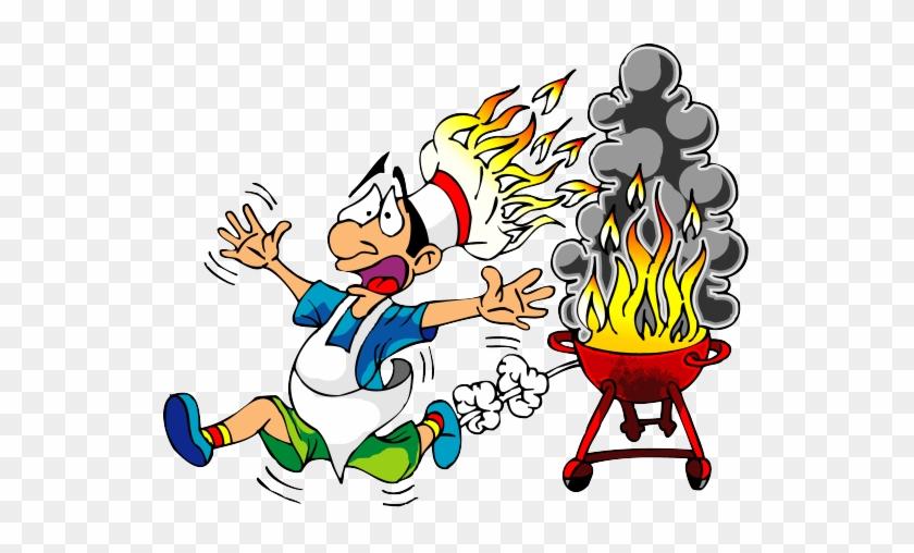 Funny Cooking Cliparts - Bbq Cartoon #106201