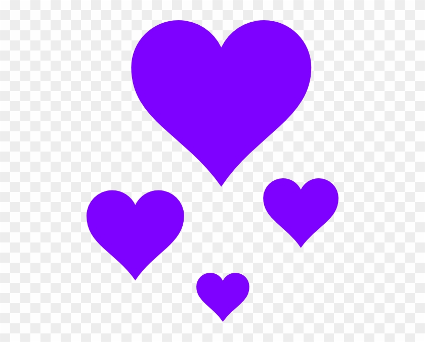Hearts Clip Art - Purple Hearts Clipart #106499