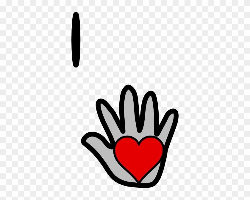 Hand Heart Clip Art - Clip Art #106544