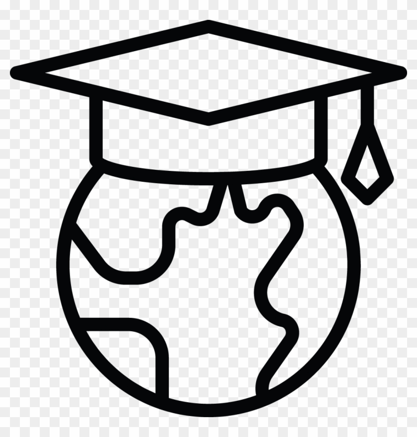 International Students - Global Student Clip Art Black And White #106570