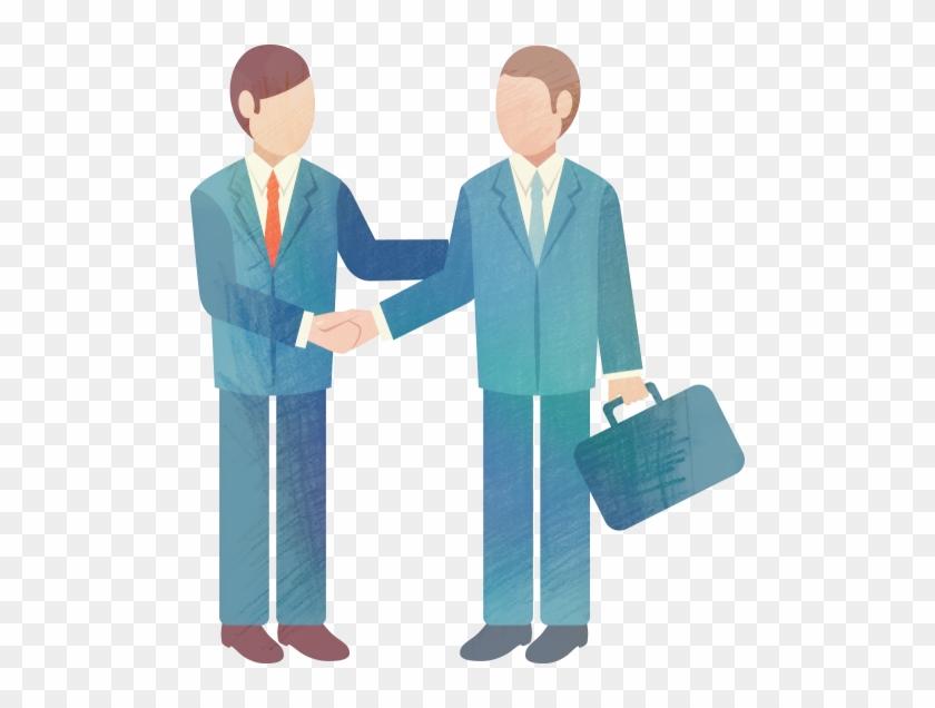 Businessperson Meeting Clip Art - Businessperson Meeting Clip Art #106582