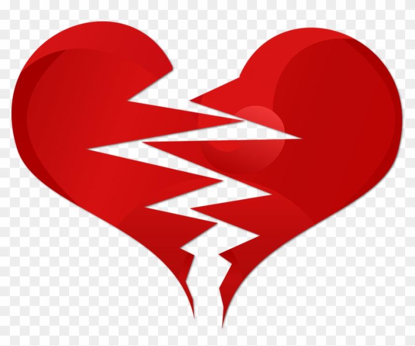 Broken Heart Clipart Transparent Background - Kırık Kalp Png #106592