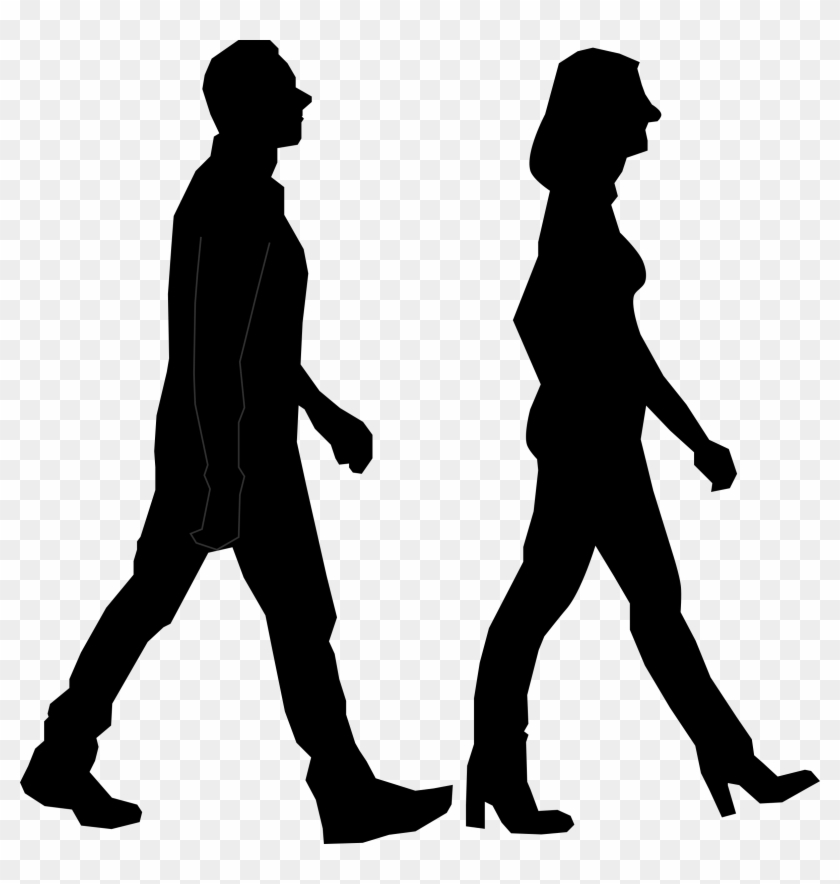 Big Image - People Walking Png Icon #106635