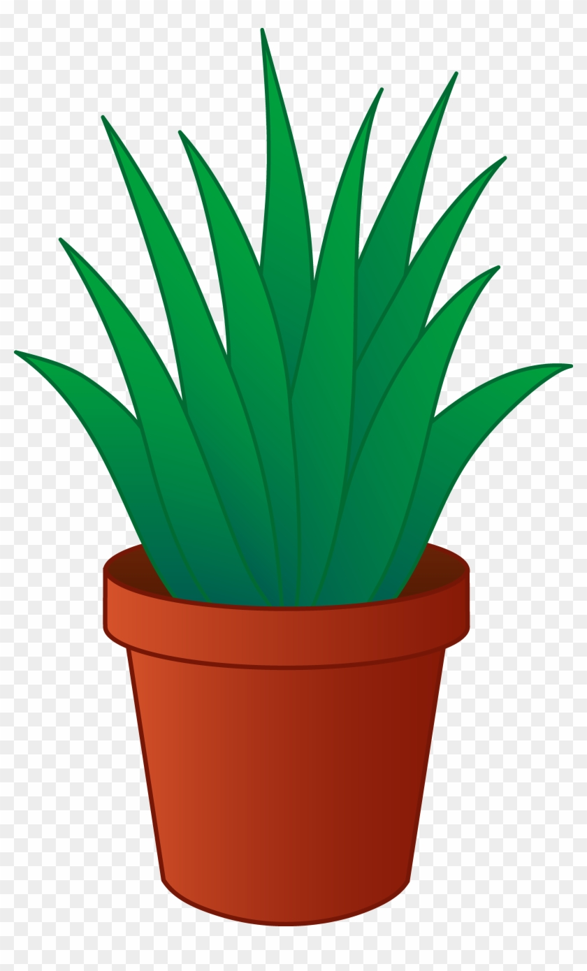 Clipart Of Plants Aloe Vera Plant In Pot Free Clip - Potted Plant Clipart #106658