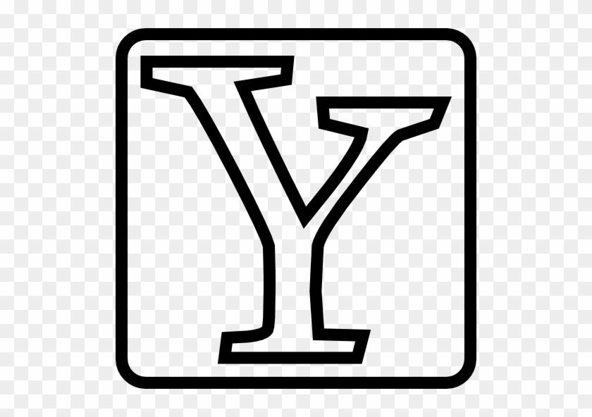 Social, Yahoo, Outline Icon - Social, Yahoo, Outline Icon #106660