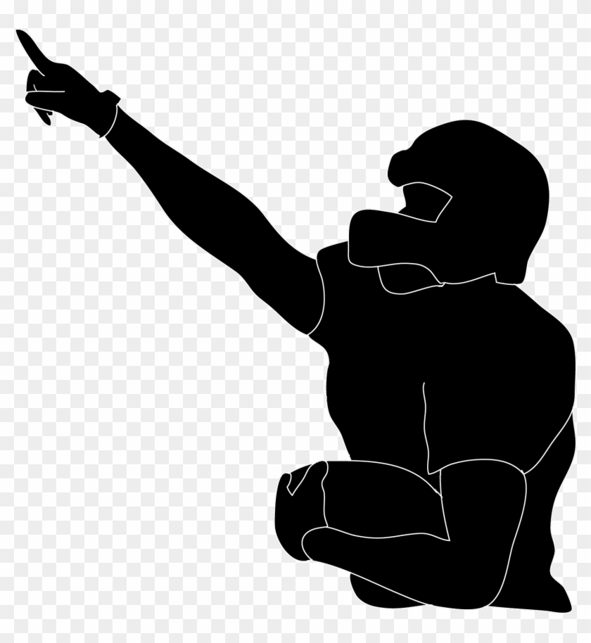 American Football Player Clipart - Football Player Silhouette Transparent #106693