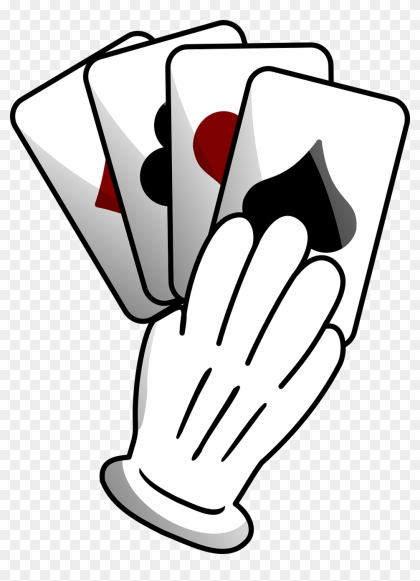 Playing Cards Suits Hand Diamond Spade Heart Club - Hand Of Cards Clip Art #106764