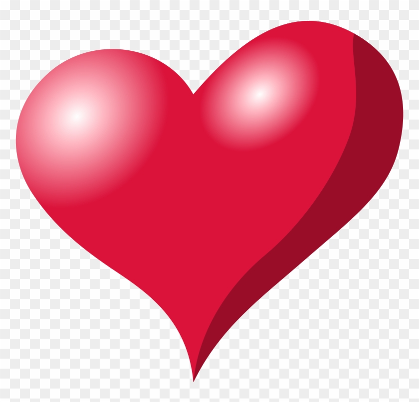 Free Vector Red Heart Shadow Clip Art - Red Objects Clip Art #106765