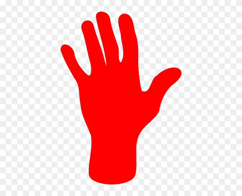 Hand - Outline - Clip - Art - Red Hand Clipart #106824