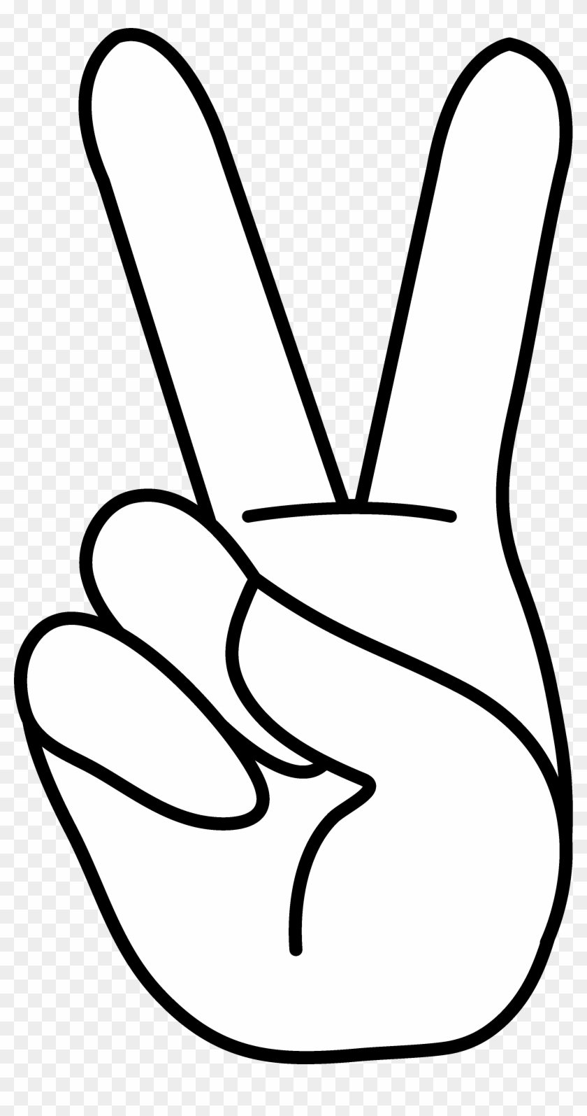 Peace Sign Peace Hand Sign Line Art Bodies 2 And Clip - Peace Sign Hand Clip Art #106846