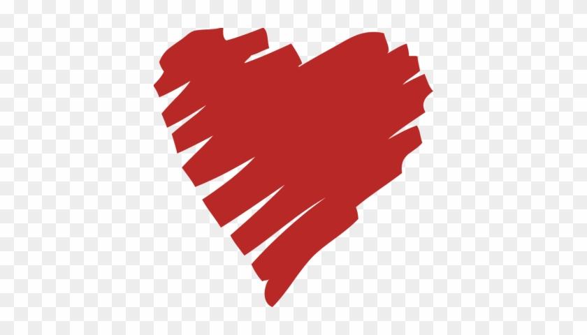 Hand Drawn Heart Clip Art Transparent - Scribble Heart Gif #106881