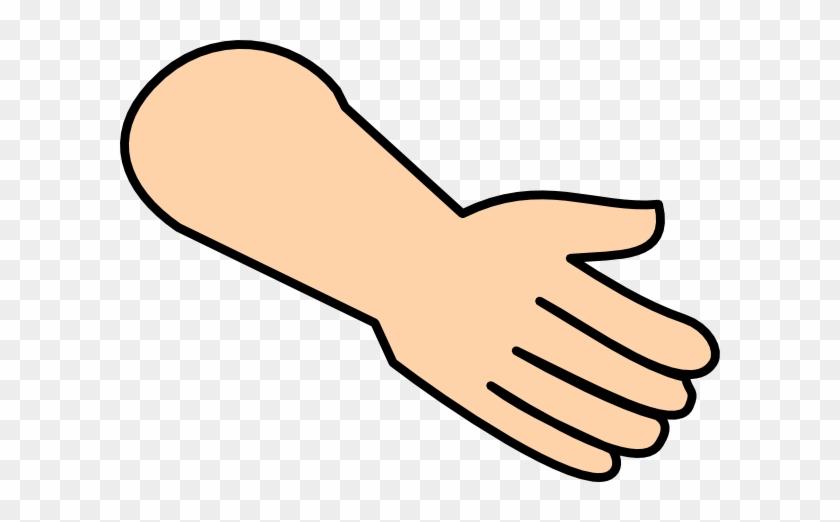 Hand Clip Art - Cartoon Back Of Hand #106892