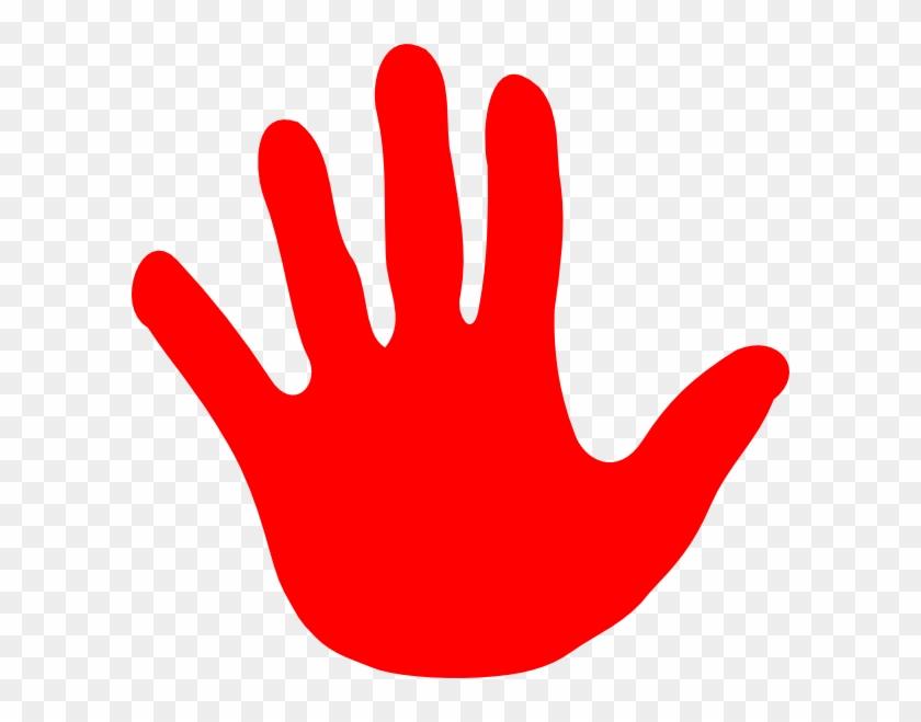 Hand Stop Sign Clipart - Clip Art #107072