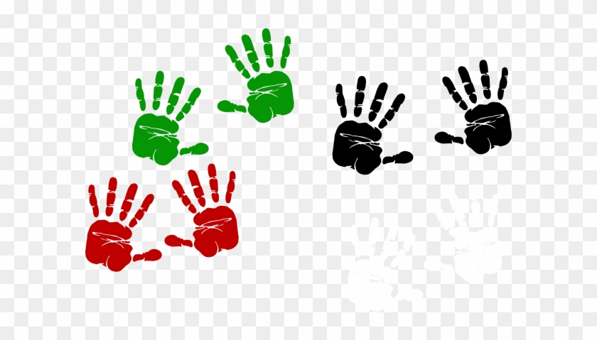 Palestinian Hand Prints Clip Art - Race For The Cure Shirt Ideas #107093